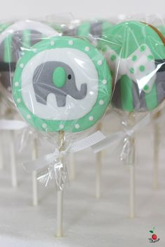 Baby Shower Cookie Pop for Marcus Icing cookie pops Best gift for your guests in baby shower