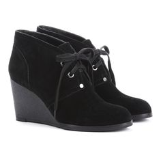 {the Audrina bootie} suede wedge