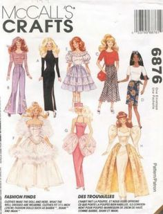 Vintage - McCall's pattern for Barbie doll clothes