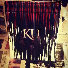 Crayon art for KU #kubball #kansas #rockchalk