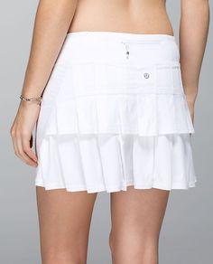 Run: Pace-Setter Skirt*T- Lululemon  Love my black version, want the white.  Huge fan of Lululemon for offering tall options!