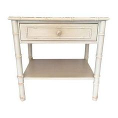 Vintage Thomasville Faux Bamboo Side Table on Chairish.com