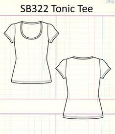 Tonic Tee - i like tee that scoop. Sewing Patterns Free, Cool Patterns, Clothing Patterns, Diy Sewing Projects, Sewing Tutorials, Top Pattern, Free Pattern, Diy Wardrobe, Diy Tops