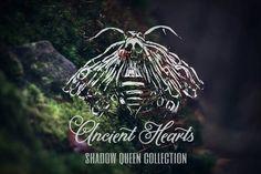 Gothic Headdress Shadow Queen Moth and Lace von AncientHeartsShop