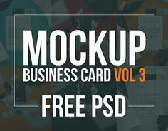 Free PSD - Business Card Mockup Volume 3 by Alexandre Cardoso Personal mockup project.