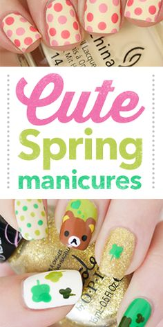 Try One of These #Cute Spring #Manicures! #nails #diy