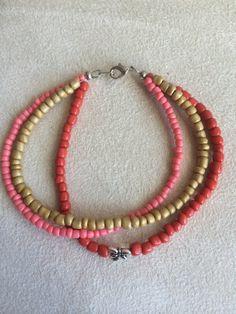 Glass Bead Bracelet with Dragonfly Charm by LJsEmptyNest on Etsy, $10.00