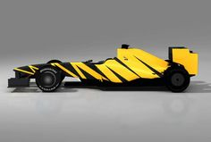 One of various designs available for an F1 car, this one looking particularly flash and stylish, a very effective design for making it stand out, but not an extremely professional design.