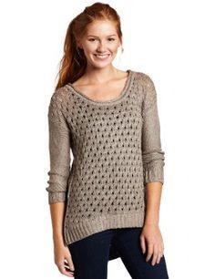 Kensie Girl Juniors Shiny Knit Sweater, $23.31