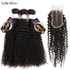 Lolly Hair Mongolian Kinky Curly Hair Bundles Remy Human Hair Extensions Machine Double Weft Bundles Hair Weaves Nature Color - April 13 2019 at Thin Curly Hair, Wavy Hair, Curly Hair Styles, Deep Curly, Updo Hairstyle, Straight Hair, Malaysian Curly Hair, Brazilian Curly Hair, Curly Weave Hairstyles