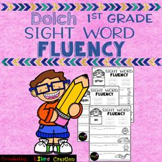 Dolch Sight Word Fluency Grade This product includes: * 41 pages of Sight Word Fluency. In this product, your students need to trace the word, fill in the blanks and color the pictures. 1st Grade Activities, 1st Grade Worksheets, Sight Word Activities, Kindergarten Worksheets, 1st Grade Writing, Teaching First Grade, Kindergarten Writing, Sight Words Printables, Dolch Sight Words