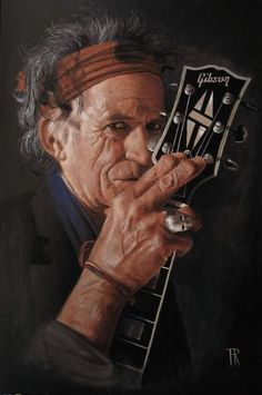 Nice Keith Richards painting by artist Theo Reijnder