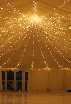Wedding marquee fairy lights by Lights4fun | Photo by 3 Point Lighting Ltd.