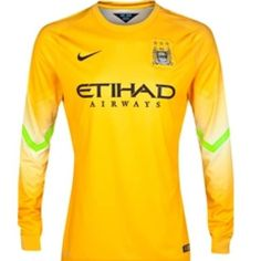 2014-2015 Long sleeved MCFC Goalkeeper change shirt Premier League Winners 1e39daf39