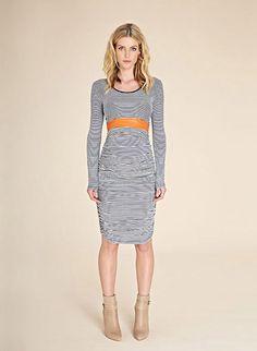 Betty Stripe Maternity Dress | Maternity Dresses | Isabella Oliver Maternity £99