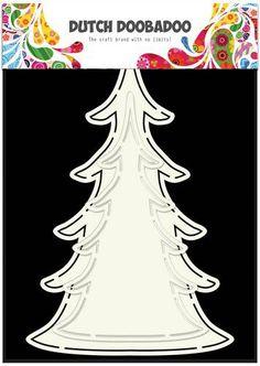 Dutch Doobadoo Dutch Card Art kerst boom (2x) 470.713.643 (08-17) 185071/3643