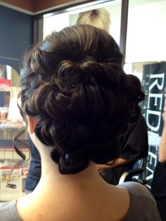 Pin curls for Mrs. Smith's wedding!