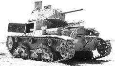 Carro Armato Medio Fiat-Ansaldo M 15/42 , брошенный в северной Африке