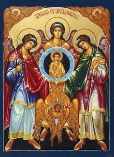 - Synaxis of Archangels Icon Religious Icons, Religious Art, Saint Joseph School, St Joseph, Religion, Jesus Christus, Byzantine Icons, Catholic Art, Advent Catholic