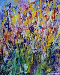 paintings of flowers abstract - Google Search