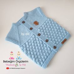 Candy Candy Vest Pattern Bonbon Candy Vest Pattern is a great knitting pattern for boys and girls. It is quite easy to make the model is waiting for the appreciation of our valuable Crochet knittingcr Baby Knitting Patterns, Baby Sweater Knitting Pattern, Vest Pattern, Knitting Designs, Baby Patterns, Knitting Stiches, Stitch Patterns, Nike Flex, Zapatos Nike Air