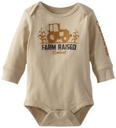 Carhartt Baby-Boys Newborn Lap Shoulder Long Sleeve Bodyshirt Farm Raised, Brown, 6 Months Carhartt,http://www.amazon.com/dp/B00BGONHZ4/ref=cm_sw_r_pi_dp_Fdt8sb19Y7VY1JRQ