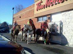 "Tim Hortons ""gallop thru"""