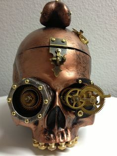 Steampunk Skull Purse by PoisonedStudios on Etsy