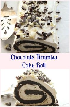 Chocolate Tiramisu Cake Roll, an easy cake recipe, mocha cake, with a creamy eggless Tiramisu filling, the perfect  Christmas or anytime dessert.