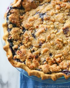 Blueberry Custard Pie  - gotta make this for my boy.