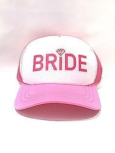 Gorra bride con diamante rosa #despedidadesoltera #despedidadesolteradecoracion #gorras