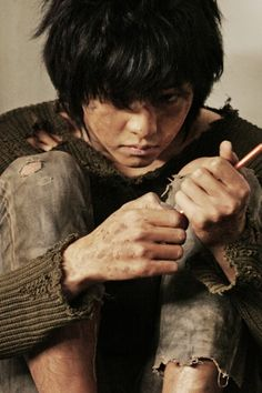 Song Joong Ki as Chul Soo in A Werewolf Boy -- He is such a good actor! Story Inspiration, Writing Inspiration, Character Inspiration, Writing Characters, Story Characters, Elias Und Laia, A Werewolf Boy, Lost Boys, My Character