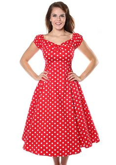 Dolores Doll Red Polka Dot, 50's dress by Collectif