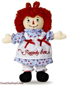 The classic handmade Raggedy Ann doll by Aurora. Measures 16 inches tall. $21.25