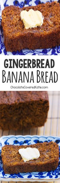 Gingerbread Banana Bread, so soft and moist, and it's perfect for breakfast