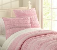 pink quilted comforter  Actually love this one....could add so many fun details....