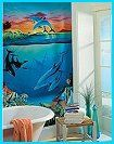 Enjoy the beauty of sea life! Printed on heavyweight billboard stock, this pre-pasted wall mural is beautiful to look at and it hangs like a dream. The colors are amazing. Comes in four individual panels. 6'W x 9'H. sea theme bedroom sea theme bathroom