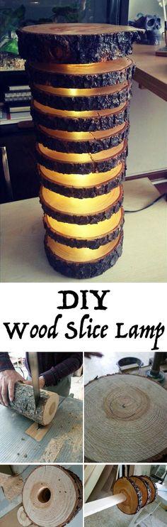 DIY Wood Slice Lamp