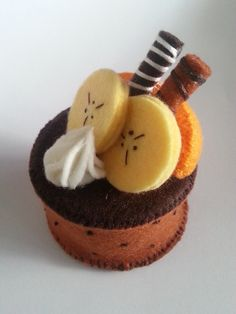 Felt Chocolate Cake (with Chocolate sticks and Orange) . Make a cake plushie by sewing and hand sewing with kit. Creation posted by B*. in the Needlework section Difficulty: Simple. Cost: Cheap.