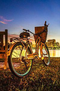 Vintage Bicycle Photograph - City Bike by Debra and Dave Vanderlaan
