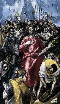 The Disrobing of Christ (El Espolio) - El Greco.  1577-79.  Oil on panel.  56 x 37 cm.  Upton House (National Trust), Banbury, UK.
