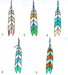 Chevron Stained Glass Feather | Home Decor & Lighting | Colin Adrian Glass | Scoutmob Shoppe | Product Detail