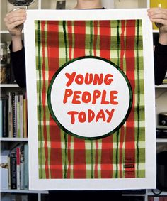 Young People Today X Tom Polo, Third Drawer Down - tea towel