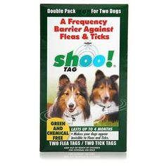 $31.99-$58.99 Shootag Shootag Flea & Tick Repeller Dog Shootag Flea & Tick Dog 2Pk Flea & Tick - SHOOTAG FLEA & TICK DOG 2PK   Shoo!TAG is a non-toxic, chemical-free way to protect pets from pests.  Shoo!TAG combines cutting-edge science and technology to produce a 'green' product that uses electromagnetic frequencies that eliminates the use of toxic chemicals on animals.  Shoo!TAG's key is the t ...