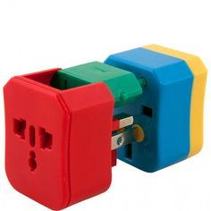Traveling internationally? This clever and colorful 4-in-1 travel adapter works all around the world. What a great idea!