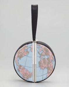Diane von Furstenberg Globe Clutch Bag - Bergdorf Goodman | This clutch is absolutely beautiful! | $666
