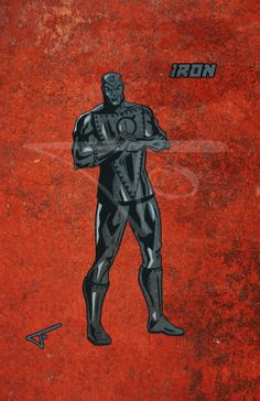 63. Iron. DC character daily challenge 2014 by Journey Studios