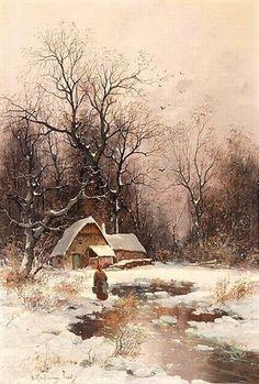 Winter Landscape, Landscape Art, Landscape Paintings, Winter Painting, Winter Art, Intermediate Colors, Cross Stitch Supplies, Winter Scenery, Snow Scenes