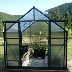 This is a great greenhouse idea for people in mountain areas. A greenhouse can help keep animals out of your garden. The insulated twinwall polycarbonate panels will help keep the frost off your plants in the early and late season in the cooler climates.