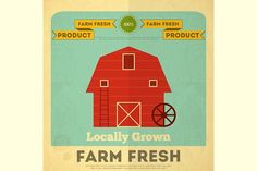 Poster for Organic Farm Food by elfivetrov on @creativemarket